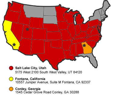 Central Refrigerated free truck driving school hiring zone map
