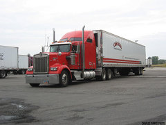 Central Refrigerated Kenworth truck at truck driving school location