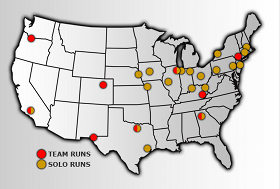 CRST dedicated runs map
