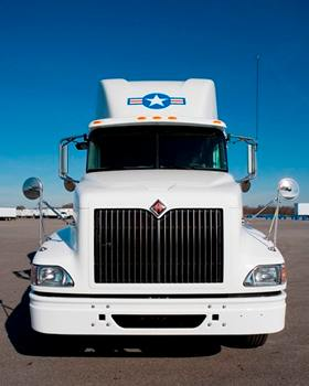USA Truck front of cab